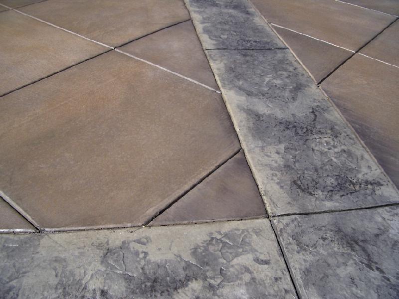 Large Tile Driveway - Slate Border 2