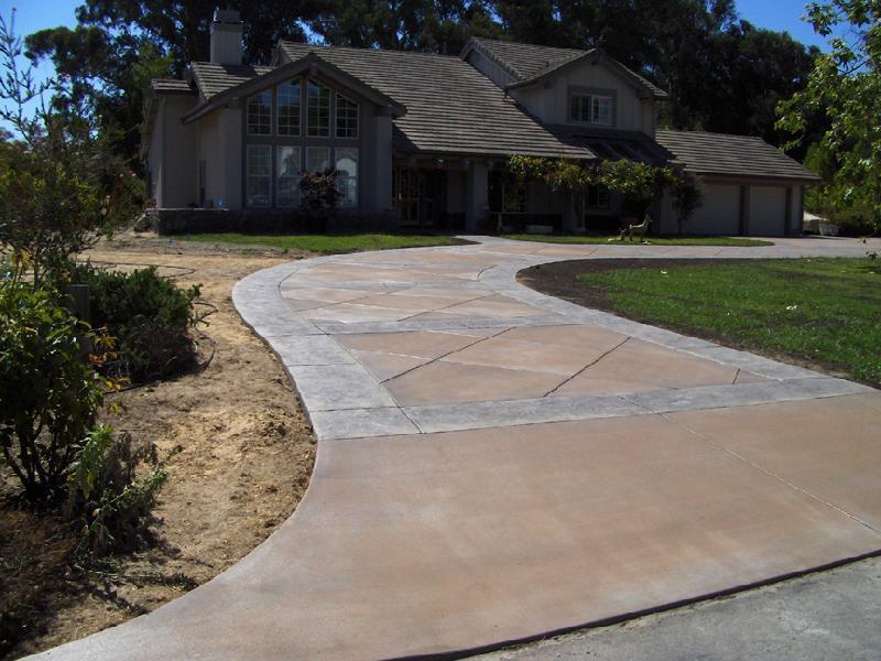 Large Tile Driveway - Slate Border 3