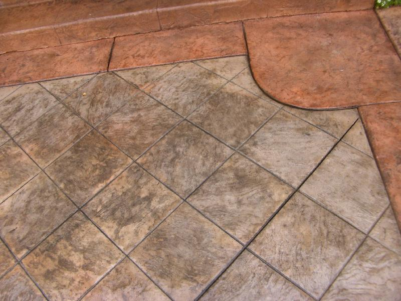 Tile Slate Patio Detail
