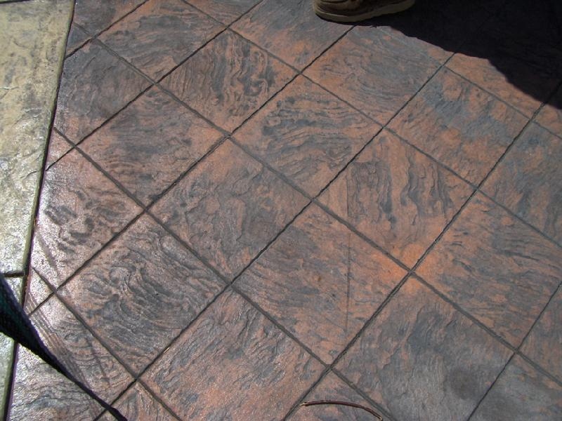 Tile Slate Pattern Patio