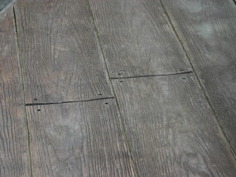 Wood Plank Pattern Patio
