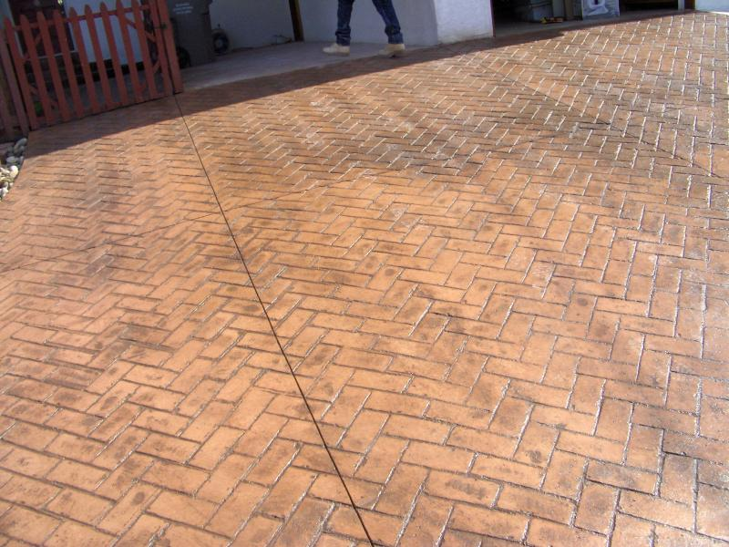 Herringbone Brick - Terra Cotta Color