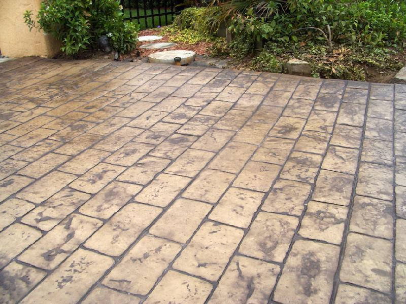 Brick Pattern Patio