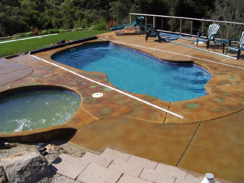 Pool area after Patina Staining