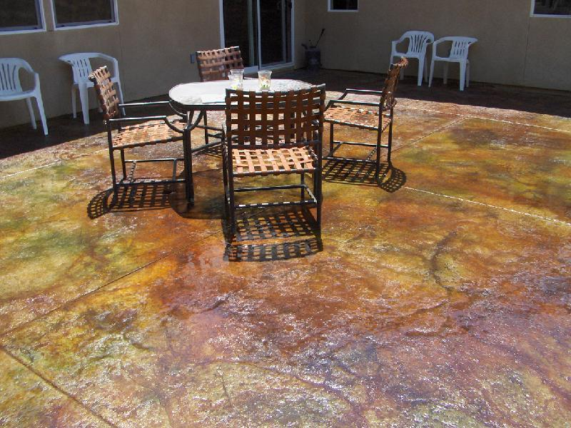 Colorado Patina Stained Patio
