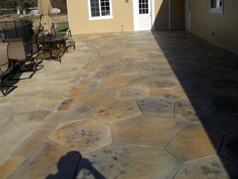 Stamped Concrete Stained