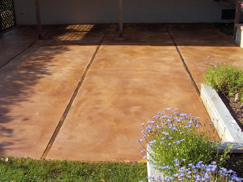 Patina Stained Patio