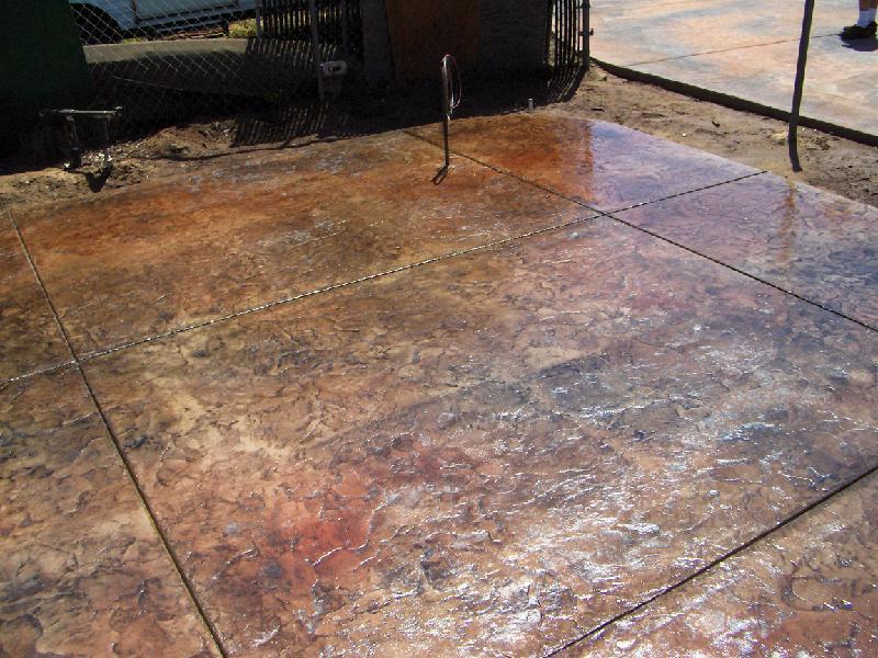 Brown Stamped Concrete Patio : Stamped seamless decorative concrete san luis obispo ca